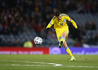 19th November 2019; Hampden Park, Glasgow, Scotland; European Championships 2020 Qualifier, Scotland versus Kazakhstan; Baktiyor Zainutdinov of Kazakhstan opens the scoring making it 1-0 to Kazakhstan in the 34th minute - Editorial Use