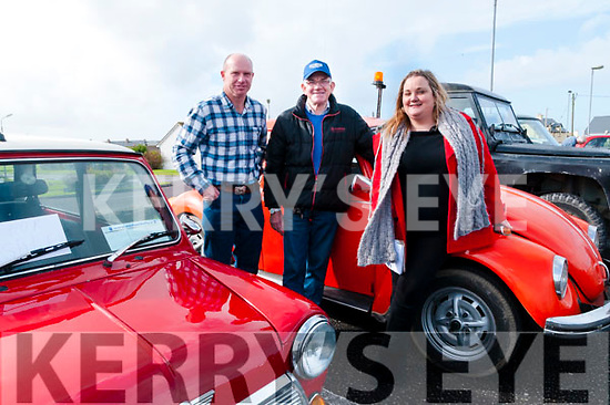 Vintage Run : Pictured at the start of the Ballybunion Health & Leisure Vintage & Classic car on Sunday last were Padraig Clancy, Martin Lyons & Marguereite O'Connor.