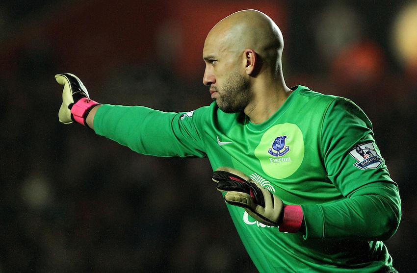 Everton's Tim Howard...- Credit - CameraSport - James Marsh - ..Football - Barclays Premiership - Southampton v Everton - Monday 21st January 2013 - St Mary's - Southampton..