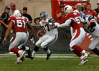 Nov. 6, 2005; Tempe, AZ, USA; Running back (37) Shaun Alexander of the Seattle Seahawks rushes the ball for an 88 yard touchdown run against the Arizona Cardinals at Sun Devil Stadium. Mandatory Credit: Mark J. Rebilas