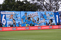 17th November 2019; Jubilee Oval, Sydney, New South Wales, Australia; A League Football, Sydney Football Club versus Melbourne Victory; Sydney fans display a large footballing banner before kick off