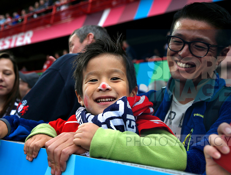 A young Japan fan with a painted nose - Rugby World Cup 2015 - Pool B - Scotland vs Japan - Kingsholm Stadium - Gloucester - England - 23rd September 2015 - Picture Simon Bellis/Sportimage