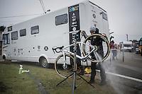 Lars van der Haar's (NED/Telenet-Fidea) bike getting a post-recon clean<br /> <br /> GP Sven Nys 2017