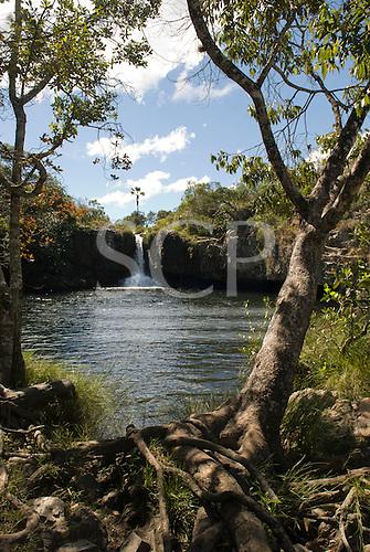 Chapada dos Veadeiros, Brazil. The Sao Bento falls (Cachoeira Sao Bento).