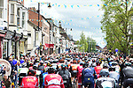 The peloton during Stage 1 of the Tour de Yorkshire 2017 running 174km from Bridlington to Scarborough, England. 28th April 2017. <br /> Picture: ASO/P.Ballet | Cyclefile<br /> <br /> <br /> All photos usage must carry mandatory copyright credit (&copy; Cyclefile | ASO/P.Ballet)