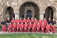 STANFORD, CA - October 21, 2015: The Stanford Cardinal 2015-2016 Men\'s Gymnastics.
