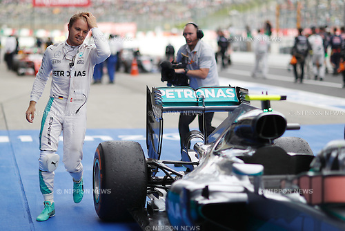 Nico Rosberg (GER), <br /> OCTOBER 9, 2016 - F1 : Japanese Formula One Grand Prix Victory ceremony <br /> at Suzuka Circuit in Suzuka, Japan. (Photo by Sho Tamura/AFLO) GERMANY OUT