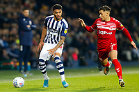 29th December 2019; The Hawthorns, West Bromwich, West Midlands, England; English Championship Football, West Bromwich Albion versus Middlesbrough; Kyle Edwards of West Bromwich Albion holds the ball up under pressure from Marcus Tavernier of Middlesbrough - Strictly Editorial Use Only. No use with unauthorized audio, video, data, fixture lists, club/league logos or 'live' services. Online in-match use limited to 120 images, no video emulation. No use in betting, games or single club/league/player publications