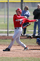 April 5, 2009:  Kory Benbow (5) of the Ball State Cardinals during a game at Amherst Audubon Field in Buffalo, NY.  Photo by:  Mike Janes/Four Seam Images