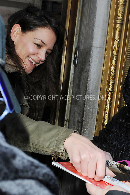 WWW.ACEPIXS.COM . . . . . .December 30, 2012...New York City....Katie Holmes arrives at The Music Box Theater for a performance of Dead Accounts on December 30, 2012 in New York City. ....Please byline: KRISTIN CALLAHAN - WWW.ACEPIXS.COM.. . . . . . ..Ace Pictures, Inc: ..tel: (212) 243 8787 or (646) 769 0430..e-mail: info@acepixs.com..web: http://www.acepixs.com .