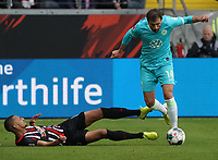 Admir Mehmedi (VfL Wolfsburg) gegen Djibril Sow (Eintracht Frankfurt) - 23.11.2019: Eintracht Frankfurt vs. VfL Wolfsburg, Commerzbank Arena, 12. Spieltag<br /> DISCLAIMER: DFL regulations prohibit any use of photographs as image sequences and/or quasi-video.