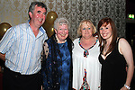 May Carpenter with David, Theresa and Nicola at her 80th birthday party in the Star and Crescent...Picture Jenny Matthews/Newsfile.ie