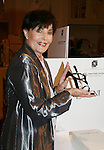 "Linda Dano (Another World, OLTL, AMC, GH) is holding an Yves Saint Laurent shoe at the 15th Annual QVC presents ""FFANY Shoes on Sale"" which benefits Breast Cancer Research on October 15, 2008 at the Waldorf Astoria, New York City, New York. (Photo by Sue Coflin/Max Photos)"