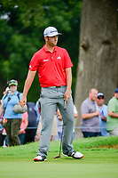 Jon Rahm (ESP) barely misses his putt on 2 during round 4 of the Dean &amp; Deluca Invitational, at The Colonial, Ft. Worth, Texas, USA. 5/28/2017.<br /> Picture: Golffile | Ken Murray<br /> <br /> <br /> All photo usage must carry mandatory copyright credit (&copy; Golffile | Ken Murray)