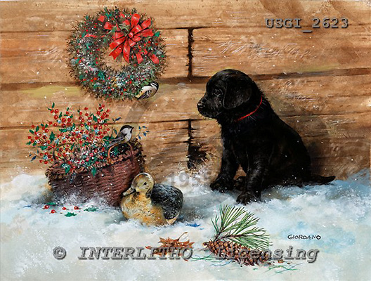GIORDANO, CHRISTMAS ANIMALS, WEIHNACHTEN TIERE, NAVIDAD ANIMALES, paintings+++++,USGI2623,#XA#