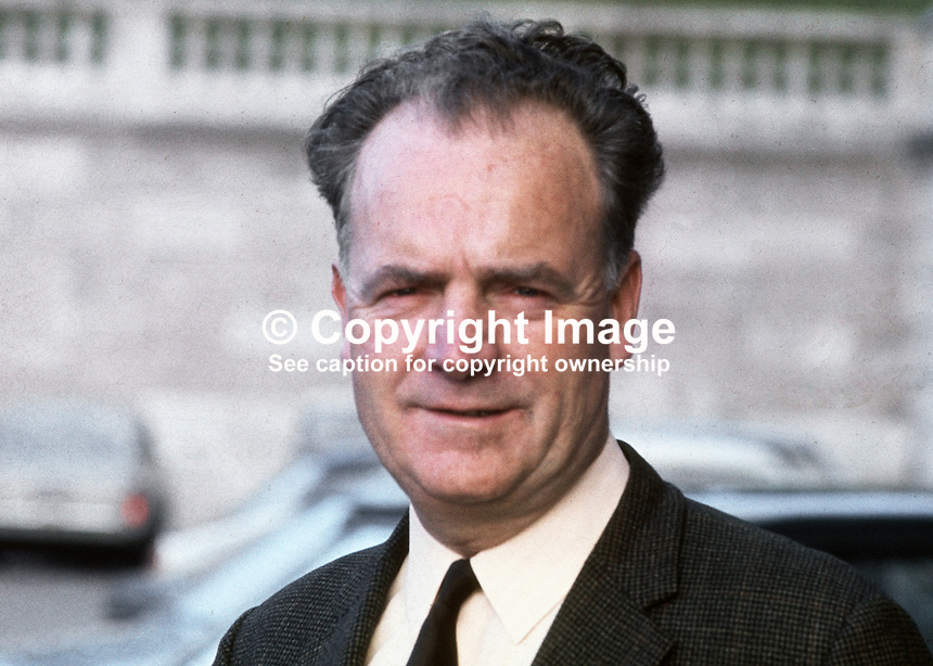 Michael Keogh, MP, South Down, Nationalist Party, N Ireland Parliament, Stormont, 19701103369. He was Editor, Frontier Sentinel, newspaper, Newry.<br /> <br /> Copyright Image from Victor Patterson,<br /> 54 Dorchester Park, Belfast, UK, BT9 6RJ<br /> <br /> t1: +44 28 90661296<br /> t2: +44 28 90022446<br /> m: +44 7802 353836<br /> <br /> e1: victorpatterson@me.com<br /> e2: victorpatterson@gmail.com<br /> <br /> For my Terms and Conditions of Use go to<br /> www.victorpatterson.com
