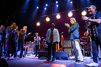 AUSTIN, TX  - November 30, 2017: John McLaughling and Jimmy Herring and Band Members pictured as John McLaughlin and Jimmy Herring perform at Paramount Theater in Austin, Texas on November 30, 2017. Credit: Erik Kabik Photography/ MediaPunch