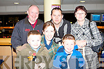 NIGHT AT THE DOGS: Having a great time at the Kingdom Greyhound Stadium Night at the Dogs on Friday seated l-r: Darragh, Niamh and Conor Mannion, Lixnaw. Back l-r: Tom Jennings, Mayo, Brian Mannion, Lixnaw and Mary Meenaghan, Mayo.