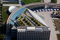 aerial photograph Salt Lake City Public Library, Salt Lake City, Utah