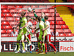 Aaron Ramsdale of Sheffield Utd punches the ball clear during the PDL U21 Final at Bramall Lane Sheffield. Photo credit should read: Simon Bellis/Sportimage