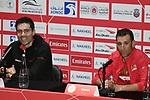 The 2019 UAE Tour Tom Dumoulin (NED) Team Sunweb and Vincenzo Nibali (ITA) Bahrain Merida spoke to the media this afternoon in Louvre Abu Dhabi, United Arab Emirates. 23rd February 2019.<br />