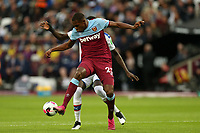 Issa Diop of West Ham United and Cheikhou Kouyate of Crystal Palace during West Ham United vs Crystal Palace, Premier League Football at The London Stadium on 5th October 2019