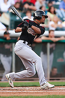 June 4, 2009:  Eric Patterson of the Sacramento River Cats, Pacific Cost League Triple A affiliate of the Oakland Athletics, during a game at the Spring Mobile Ballpark in Salt Lake City, UT.  Photo by:  Matthew Sauk/Four Seam Images