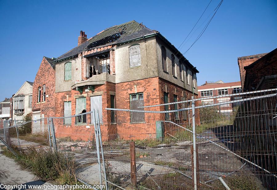 Derelict former dock office buildings, Albert Dock, Hull, Yorkshire, England