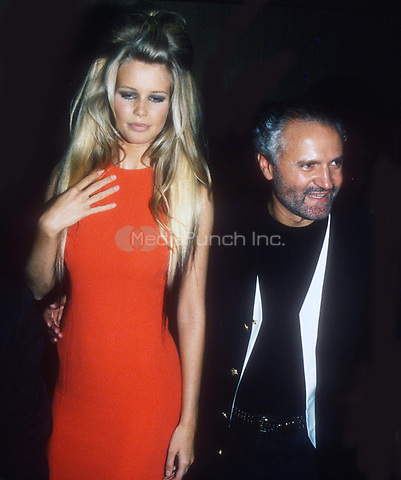 #ClaudiaSchiffer #GianniVersace 1992<br /> Photo by John Barrett/PHOTOlink.net / MediaPunch