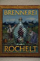 Europe/Autriche/Tyrol/Fritzens: Distillerie de schnaps Rochelt - Détail plaque d'entrée