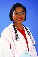 African-american female doctor portrait
