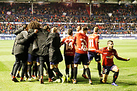 CA Osasuna celebrates the goal during the Spanish football of La Liga 123, match between CA Osasuna and Málaga CF at the Sadar stadium, in Pamplona (Navarra), Spain, on Saturday, November 3, 2018.
