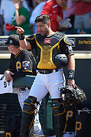 Pittsburgh Pirates catcher Francisco Cervelli (29) before a Spring Training game against the Boston Red Sox on March 9, 2016 at McKechnie Field in Bradenton, Florida.  Boston defeated Pittsburgh 6-2.  (Mike Janes/Four Seam Images)