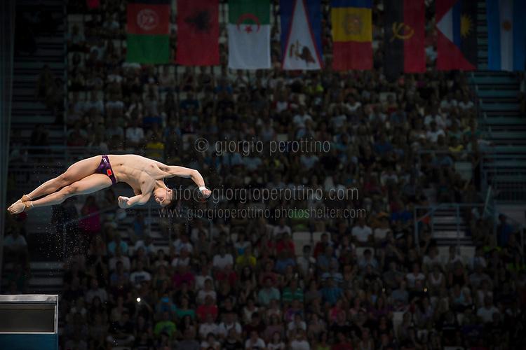 CHEN Aisen CHN silver medal<br /> Diving<br /> Men's 10m platform final<br /> 22/07/2017 <br /> XVII FINA World Championships Aquatics<br /> Duna Arena<br /> Photo @ Giorgio Perottino/Deepbluemedia/Insidefoto