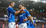 23.08.2018 Rangers v Ufa: Connor Goldson celebrates his goal