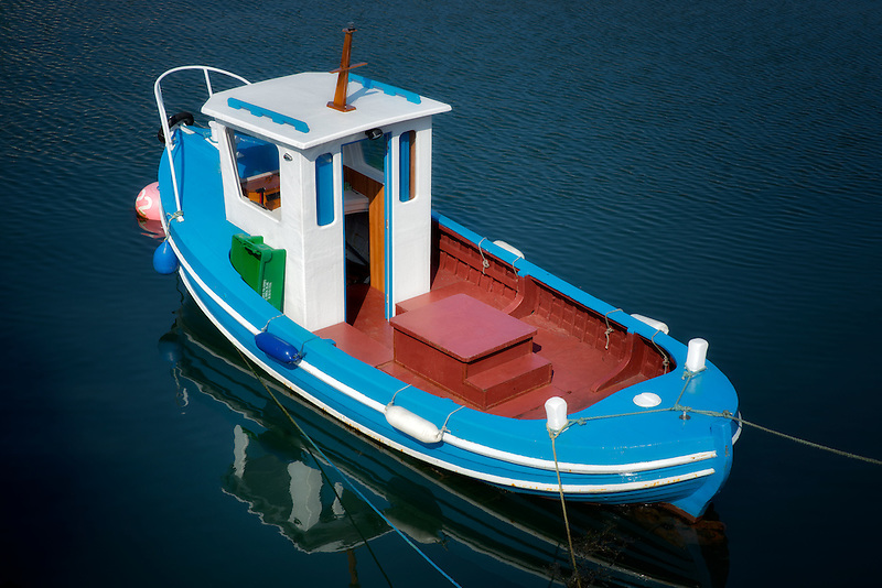 Boat in Carnlough Harbor. Carnlough, Northern Ireland
