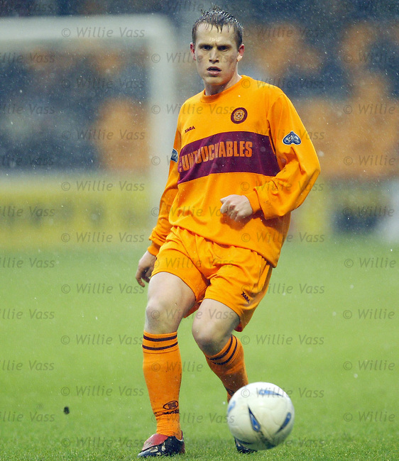 Stevie Hammell, Motherwell.stock season 2003-04.pic willie vass
