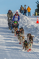 Shaynee Traska on Cordova St. hill during the Anchorage start day of Iditarod 2018 on Cordova St. hill during the Anchorage start day of Iditarod 2019