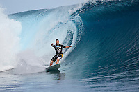 ANDY IRONS (HAW) TEAHUPOO, Tahiti (Saturday, May 9, 2009) - The 2009 Billabong Pro Tahiti presented by Air Tahiti Nui commenced today with fourteen heats of Round 1completed in 1.5 -2 meter waves. Conditions remained perfect all day with light winds. Former world surfing champion ANDY IRONS (HAW) entered the contest as a wild card and was one of the standout surfers of the day, advancing to Round 2. The event is Stop No. 3 of 10 on the 2009 ASP World Tour and boasts a waiting period from May 9 through May 20, 2009. .The contest brings together 45 of the world's best surfers charging the heaviest wave on earth in one of the most pristine locations on the planet..This year's event will run the new format, seeding all competitors directly into man-on-man elimination heats, with the Top 16 seeded directly into Round 2 while the remaining surfers battle it out in Round 1..Photo: joliphotos.com