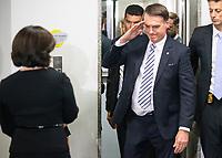 BRASILIA, DF, 20.11.2018 - BOLSONARO-PGR-   O presidente eleito, Jair Bolsonaro, presta continência durante encontro com a procuradora-geral da República, Raquel Dodge, nesta terça, 20.(Foto:Ed Ferreira / Brazil Photo Press)