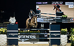 Patrice Delaveau of France riding Aquila HDC competes in the Longines Grand Prix during the Longines Masters of Hong Kong at AsiaWorld-Expo on 11 February 2018, in Hong Kong, Hong Kong. Photo by Ian Walton / Power Sport Images