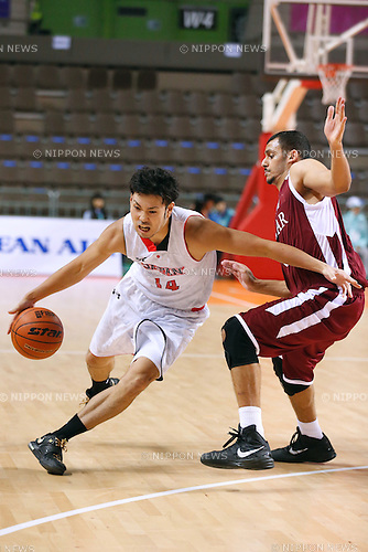 Kosuke Kanamaru (JPN), <br /> SEPTEMBER 25, 2014 - Basketball : <br /> Men's Preliminary <br /> between Japan 71-72 Qatar <br /> at Samsan World Gymnasium <br /> during the 2014 Incheon Asian Games in Incheon, South Korea. <br /> (Photo by AFLO SPORT)