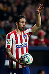 Sime Vrsaljko of Atletico de Madrid during La Liga match between Atletico de Madrid and Granada CF at Wanda Metropolitano Stadium in Madrid, Spain. February 08, 2020. (ALTERPHOTOS/A. Perez Meca)