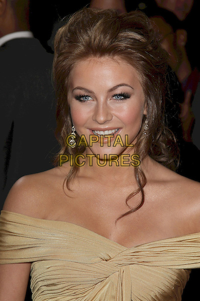 "JULIANNE HOUGH .""Burlesque"" Los Angeles Premiere held at Grauman's Chinese Theatre,Hollywood, California, USA, .15th November 2010..portrait headshot beige gold ruched off the shoulder dangly earrings .CAP/ADM/CH.©Charles Harris/AdMedia/Capital Pictures"