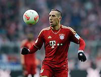 FUSSBALL   1. BUNDESLIGA  SAISON 2012/2013   18. Spieltag FC Bayern Muenchen - SpVgg Greuther Fuerth       01.12.2012 Franck Ribery (FC Bayern Muenchen) mit Ball