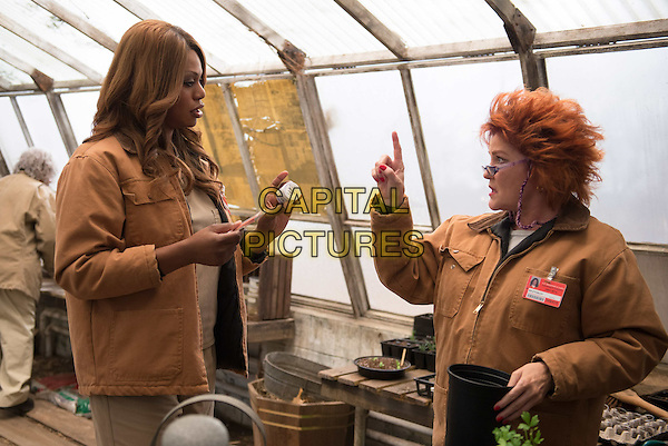 Laverne Cox and Kate Mulgrew<br /> in Orange Is the New Black (2013&ndash; ) <br /> (Season 2)<br /> *Filmstill - Editorial Use Only*<br /> CAP/NFS<br /> Image supplied by Netflix/Capital Pictures