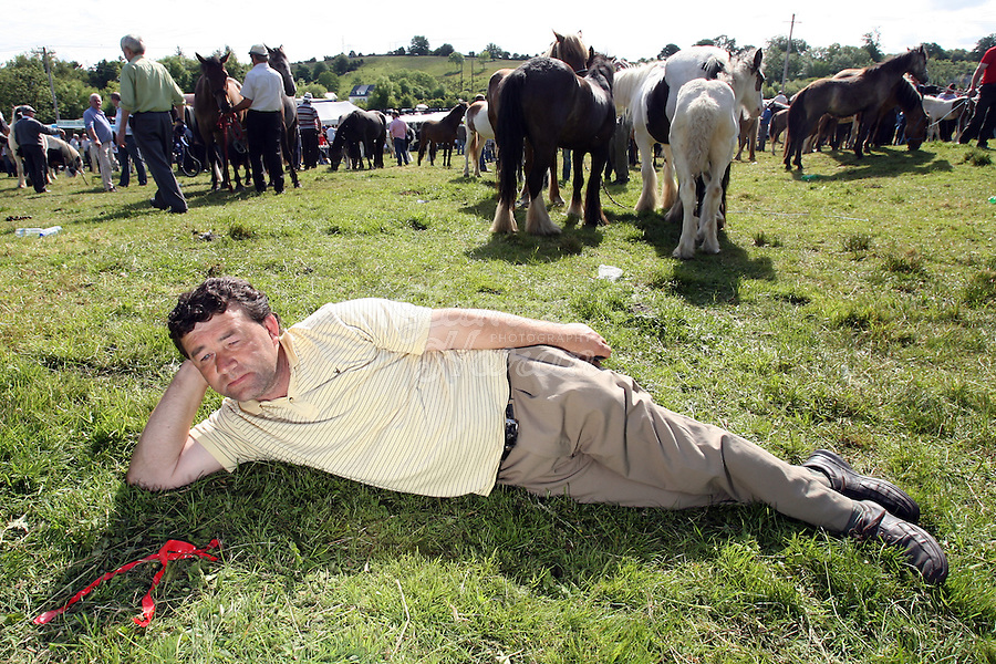 23/6/2009. Spancill Hill horse fair. Larry Cash from Wexford is pictured at the Spancill Hill horse Fair Co Clare.