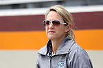 01 May 2016: UNC head coach Jenny Levy. The University of North Carolina Tar Heels played the Syracuse University Orange at Lane Stadium in Blacksburg, Virginia in the 2016 Atlantic Coast Conference Women's Lacrosse Tournament championship match. North Carolina won 15-14 in overtime.