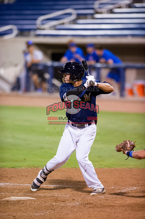 AZL Brewers center fielder Jesus Lujano (26) at bat against the AZL Cubs on August 24, 2017 at Maryvale Baseball Park in Phoenix, Arizona. AZL Cubs defeated the AZL Brewers 9-1. (Zachary Lucy/Four Seam Images)