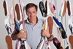 Marco Boglione, fotografato per Gente nella sede dell'azienda con le scarpe Superga. Torino 27/05/2011